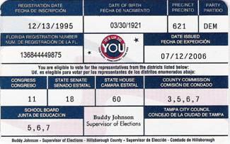 Legislative - Voter Info Card